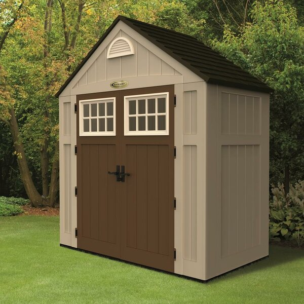 Alpine 7 ft. 5 in. W x 3 ft. 5 in. D Plastic Storage Shed by Suncast