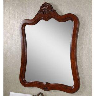Look for Dark Brown Wood Wall Mirror ByAstoria Grand