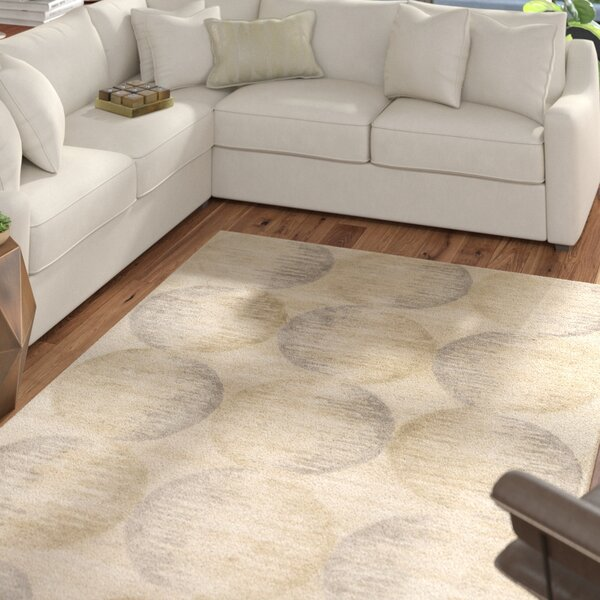 Democritus Hand-Tufted Taupe/Gray Area Rug by Mercury Row