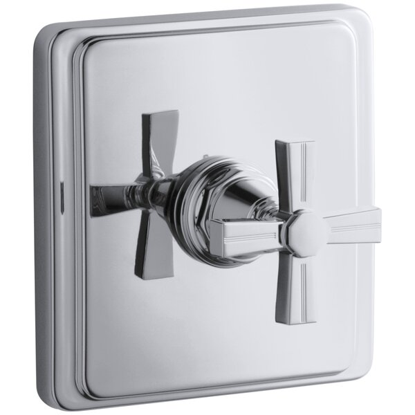 Pinstripe Valve Trim with Cross Handle for Thermostatic Valve, Requires Valve by Kohler