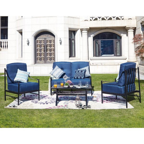 Peete 4 Piece Sofa Seating Group with Cushions by Alcott Hill