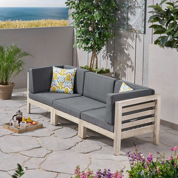 Seaham 3 Piece Sofa Seating Group with Cushions by Brayden Studio