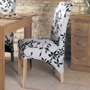Mobel Oak Solid Oak Upholstered Dining Chair (Set of 2)