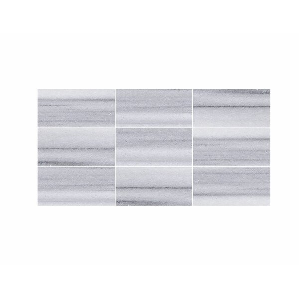 3 x 6 Marble Field Tile in White by Parvatile