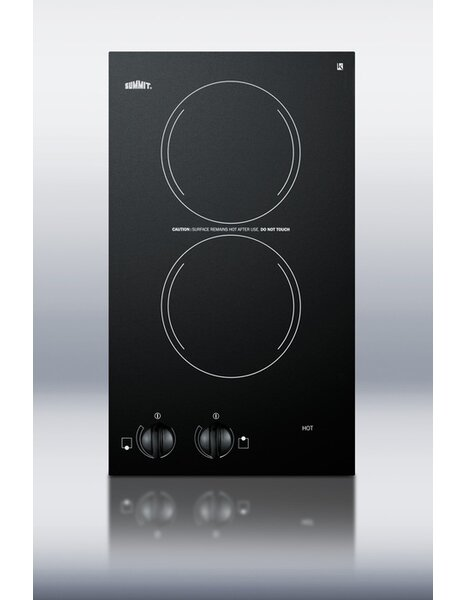 Summit 12 Electric Cooktop with 2 Burners by Summi