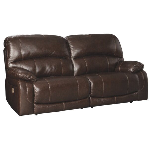 Pisano Leather Reclining Sofa By Red Barrel Studio