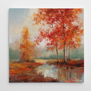 'Autumn's Grace II' Oil Painting Print on Wrapped Canvas by Three Posts