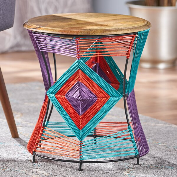 Meknes Yarn End Table by Bungalow Rose