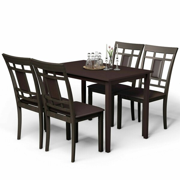 Natoma Mid Century Modern 5 Piece Dining Set by Canora Grey