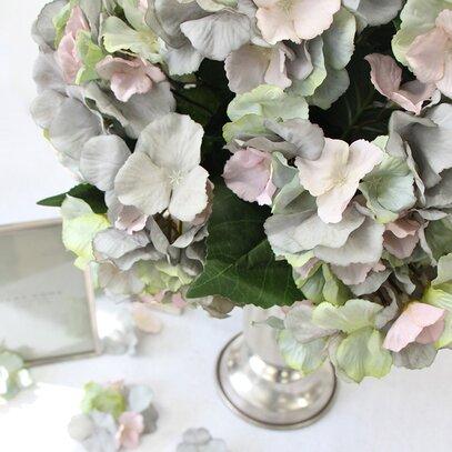 Luxury Silk Hydrangea Bloom Stem by G Home Collection