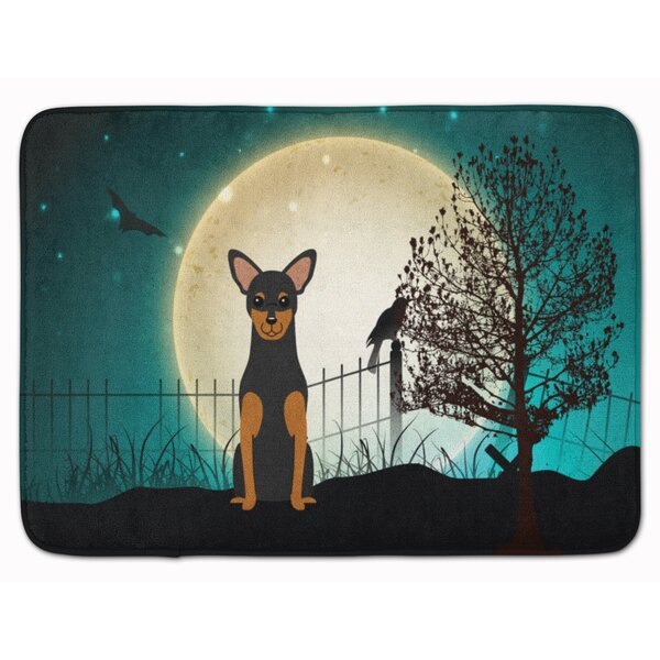 Testa Scary Manchester Terrier Memory Foam Bath Rug by The Holiday Aisle