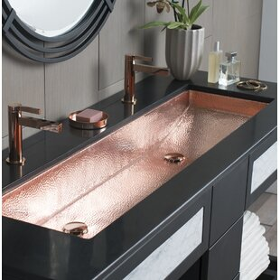 Genial Bathroom Double Trough Sink | Wayfair