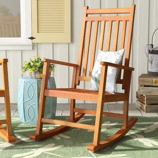 Titouan Hardwood Rocking Chair & Outdoor Wooden Rocking Chair | Wayfair