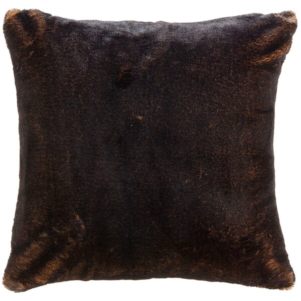 Newport Faux Fur Throw Pillow by Loon Peak