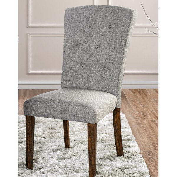 Best #1 Villanueva Transitional Upholstered Dining Chair (Set Of 2) By Alcott Hill Design