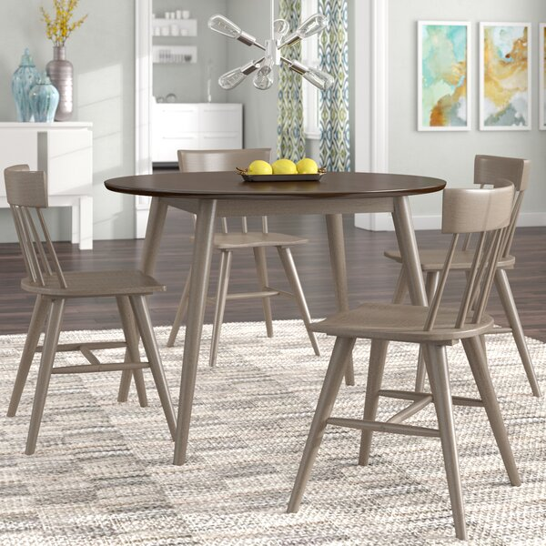 Bober Modern 5 Piece Solid Wood Dining Set by Ivy Bronx