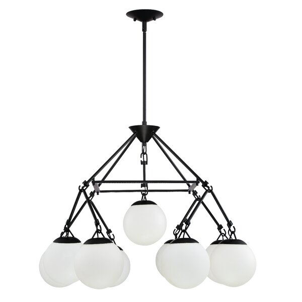 Ison 9 - Light Shaded Classic / Traditional Chandelier By George Oliver