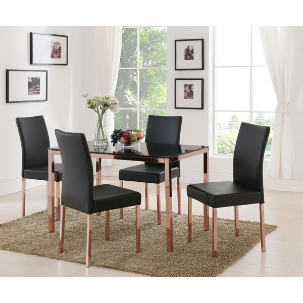 Heiden 5 Piece Dining Set by Mercer41
