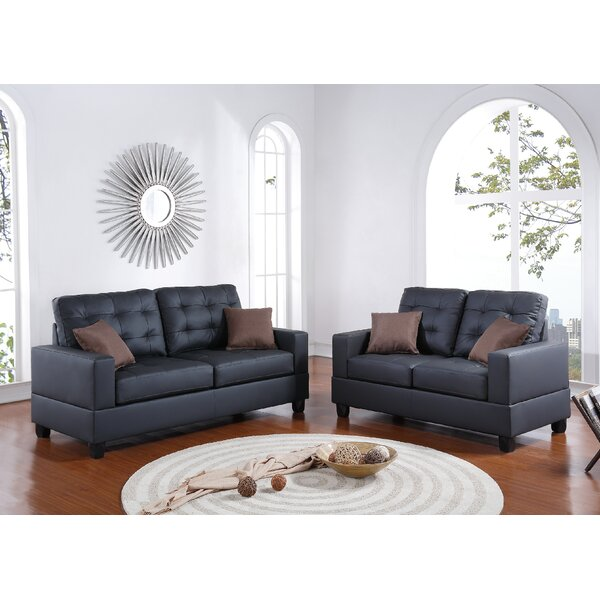 Best #1 Draeger 2 Piece Living Room Set By Ebern Designs Purchase