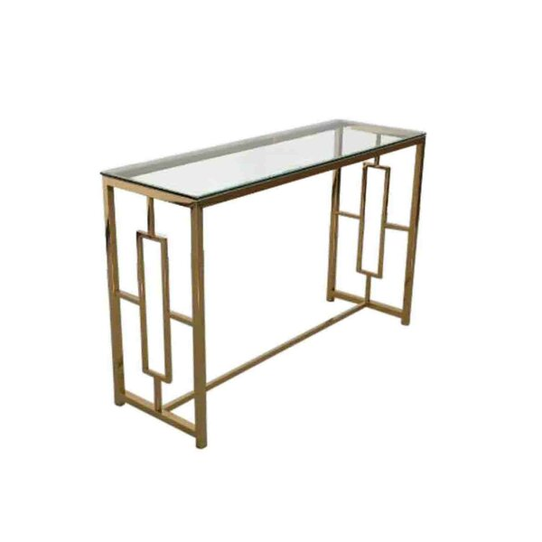 Stainless Steel and Glass Console Table by Sagebrook Home