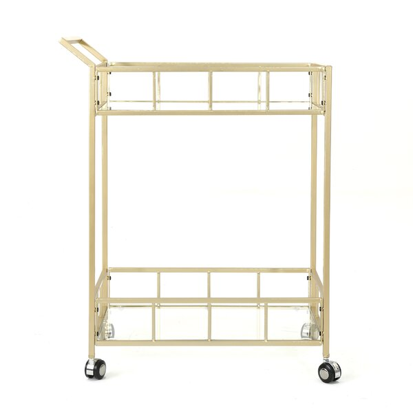 Eaker Outdoor Modern Bar Serving Cart By Orren Ellis