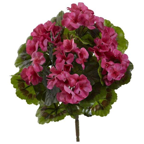Indoor/Outdoor UV Resistant Geranium Floral Arrangement (Set of 4) by Charlton Home