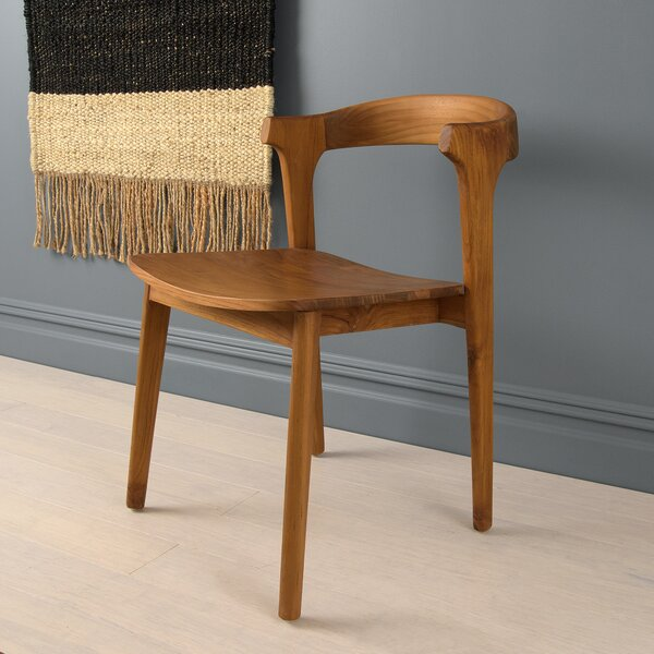 Towne Solid Wood Arm Chair in Walnut by Foundry Select Foundry Select