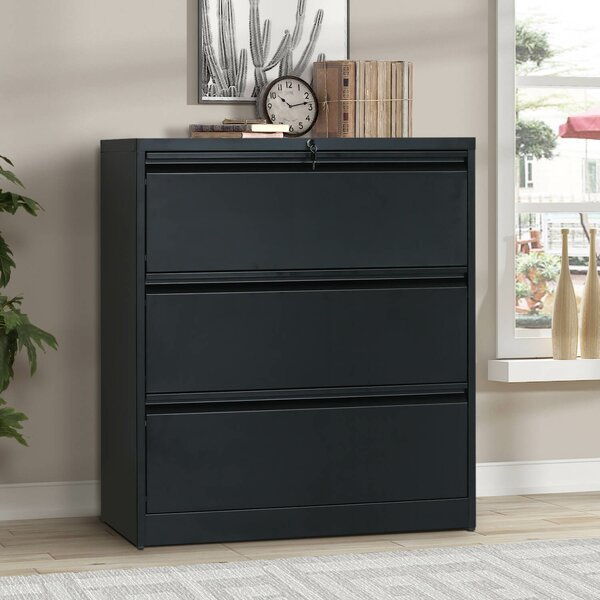 Heavy-Duty 3-Drawer Lateral Filing Cabinet
