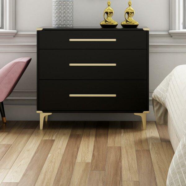 Karissa 3 Drawer Dresser by CosmoLiving by Cosmopolitan