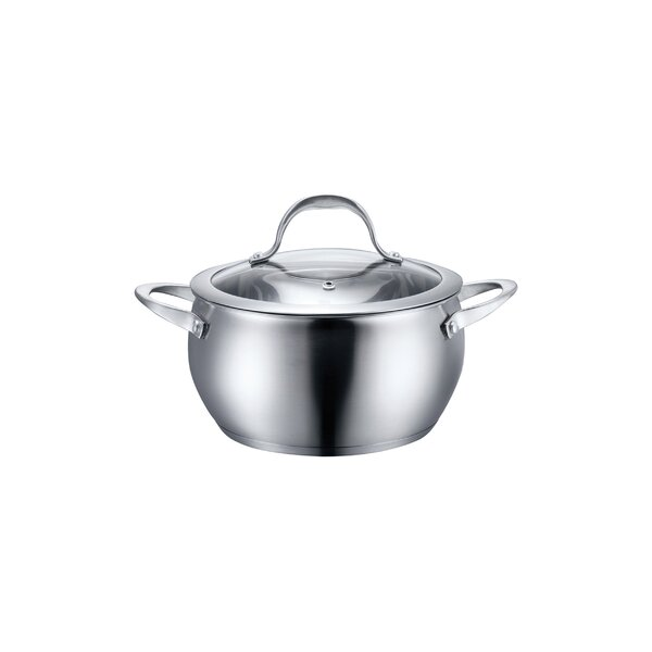 Stainless Steel Cookware Bean Pot with Lid by Diamond Home