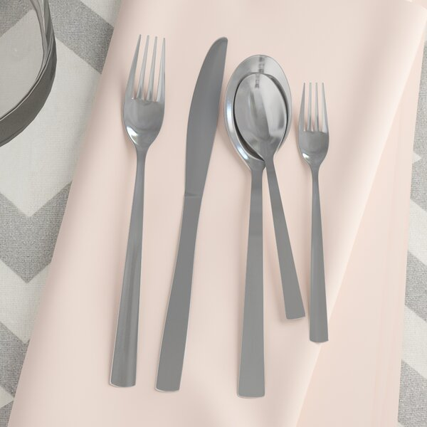 Fulvia Elegant Stainless Flatware Set, Service for 4 (Set of 4) by Mint Pantry