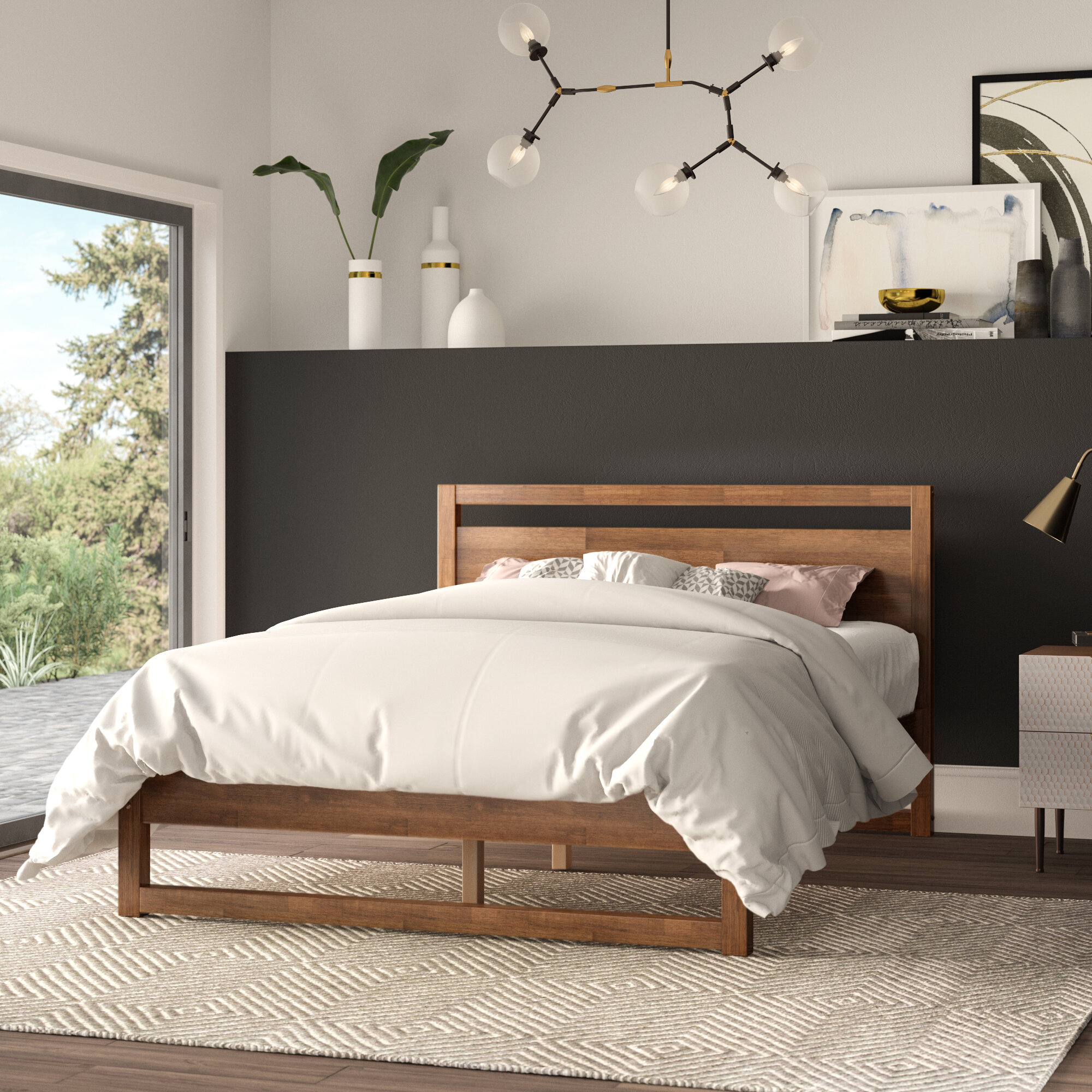 Mercury Row Ellerbe Mid Century Modern Platform Bed Reviews