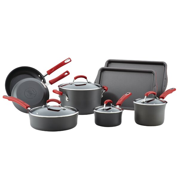 Hard-Anodized 8 Piece Non-Stick Cookware Set by Rachael Ray