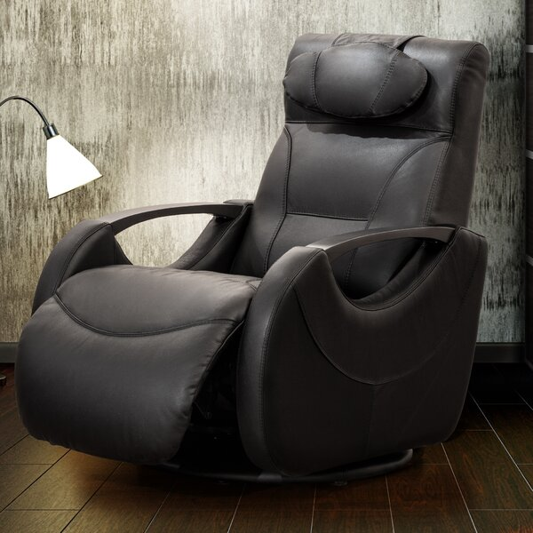 Isaac Leather Manual Swivel Recliner by Fornirama