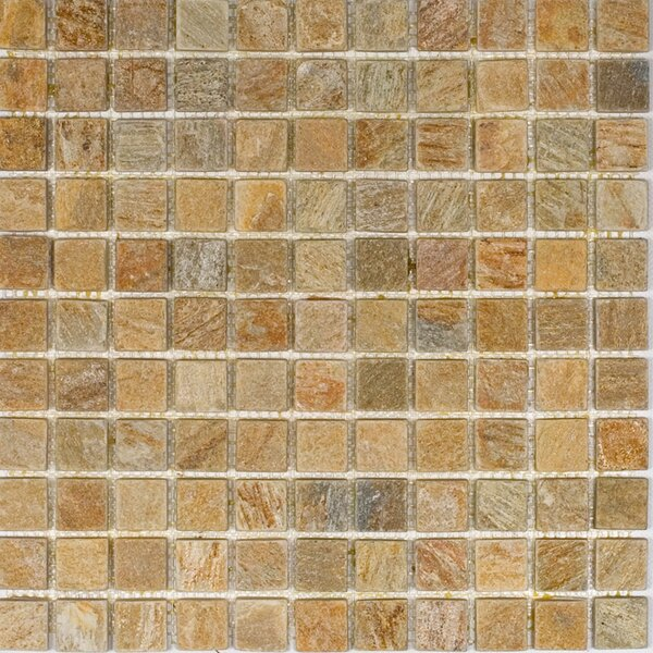 1 x 1 Slate Mosaic Tile in Sunny Ray by Epoch Architectural Surfaces