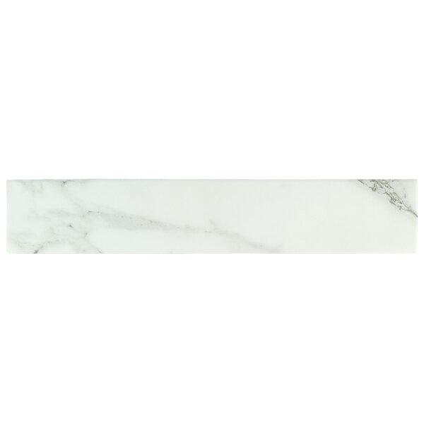 Delos 3.13 x 17.38 Porcelain Field Tile in White by EliteTile
