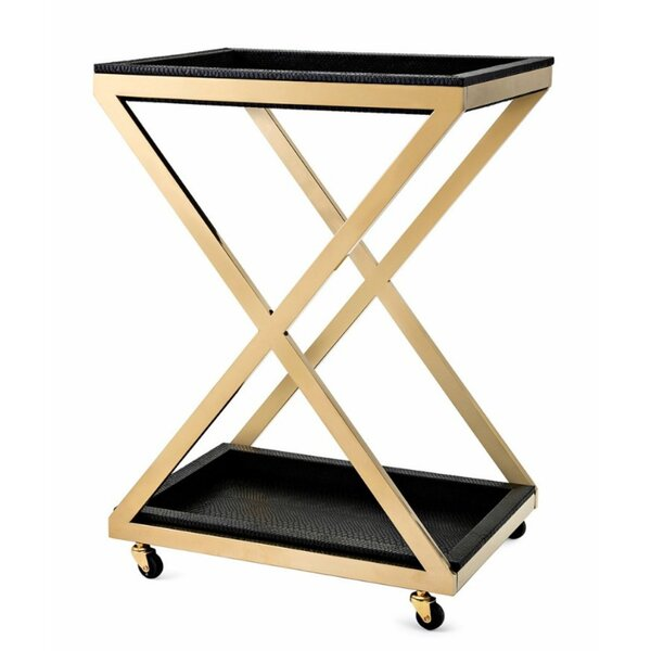 Carmella Metal Bar Cart By Everly Quinn #2