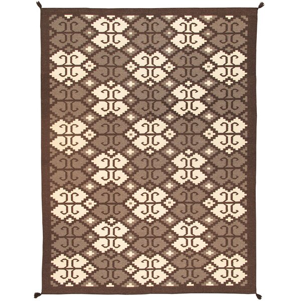 Kilim Hand-Woven Brown/Beige Area Rug by Pasargad