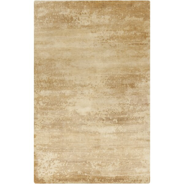 Chane Hand-Knotted Tan/Khaki Area Rug by 17 Stories