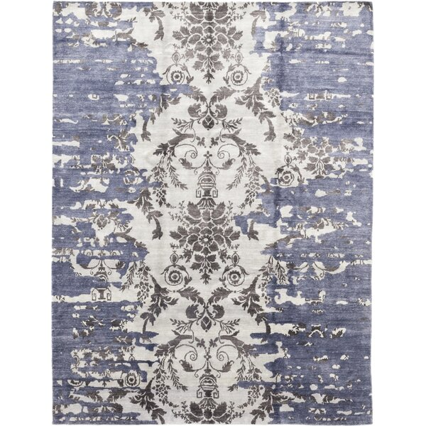 One-of-a-Kind Crutcher Hand-Knotted Wool Blue Indoor Area Rug by Isabelline