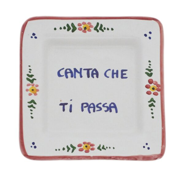Blotner Proverb Square Canta Che Ti Passa 5 Bread and Butter Plate by Winston Porter