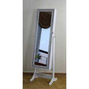 Inexpensive Jewelry Armoire with Mirror By Jeco Inc.