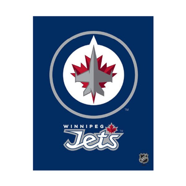 Winnipeg Jets Logo Graphic Art on Canvas by Artissimo Designs