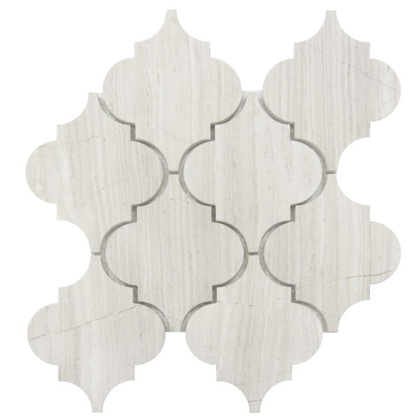 Arabesque 4 x 4 Wood Mosaic Tile in Gray by Luxsurface