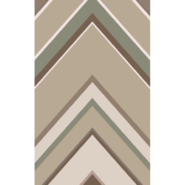 Zafiro Beige/Taupe Geometric Rug by Corrigan Studio