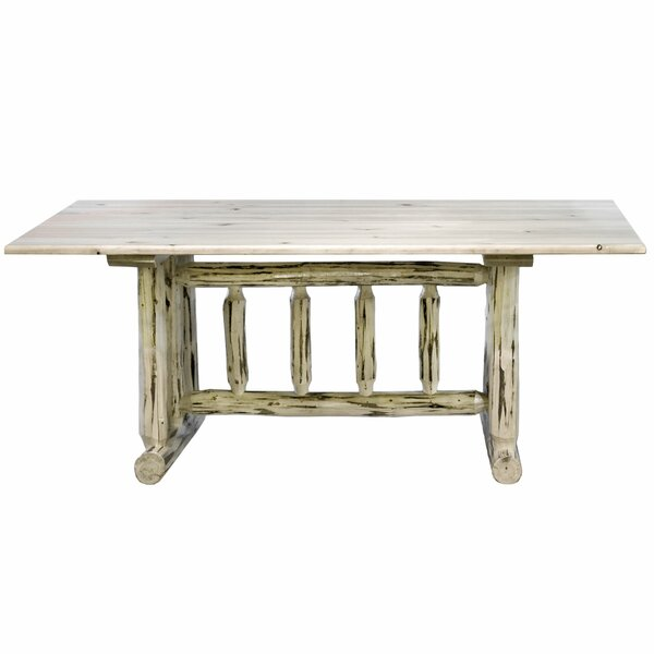 Tustin Solid Wood Dining Table by Loon Peak Loon Peak