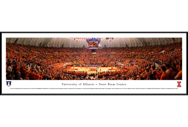 NCAA Illinois, University of - Basketball by James Blakeway Framed Photographic Print by Blakeway Worldwide Panoramas, Inc