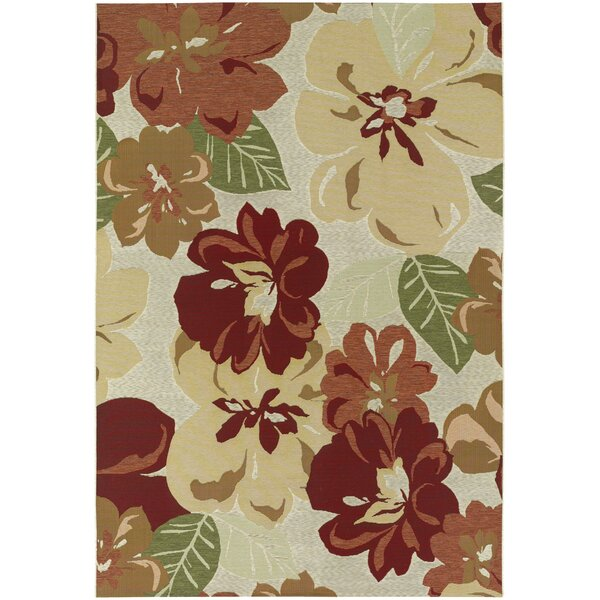 Dimmick Rose Bud Indoor/Outdoor Area Rug