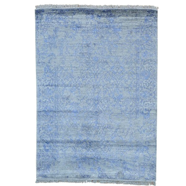 One-of-a-Kind Orian Hand-Knotted Blue Area Rug by One Allium Way