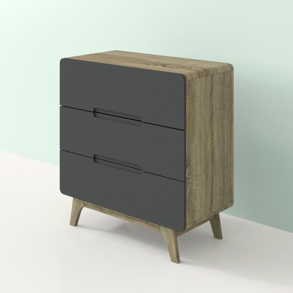 Conrad 3 Drawer Bachelors Chest By Hashtag Home by Hashtag Home Herry Up